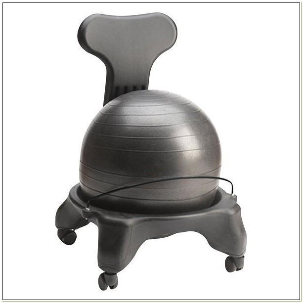 Gaiam Ergonomic Balance Ball Chair Black
