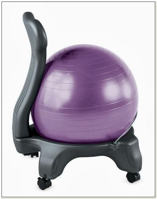 Gaiam Ergonomic Balance Ball Chair Purple