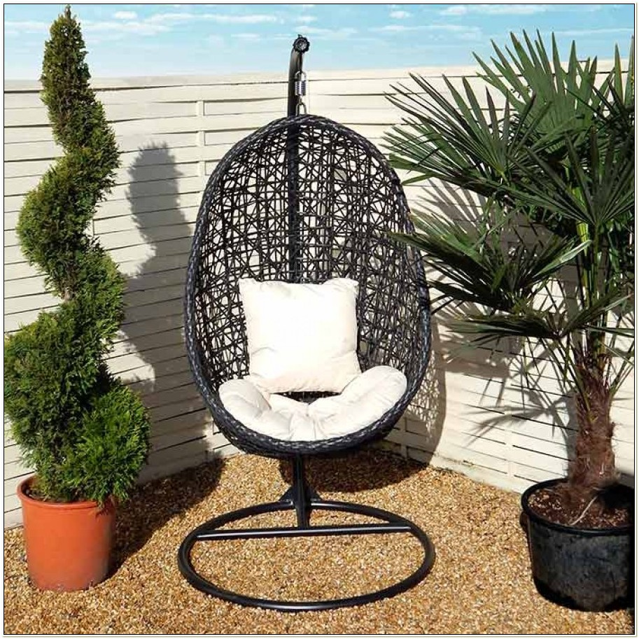 Garden Hanging Egg Chair With Cushion