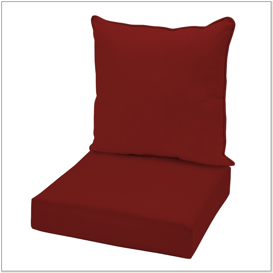 Garden Treasures Red Chair Cushion