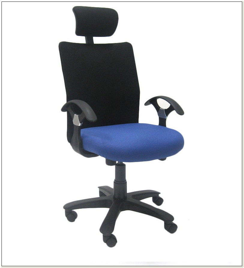 Geneva Computer Chair With Headrest By Chromcraft