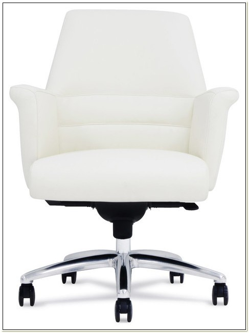 Genuine Leather Office Chair White