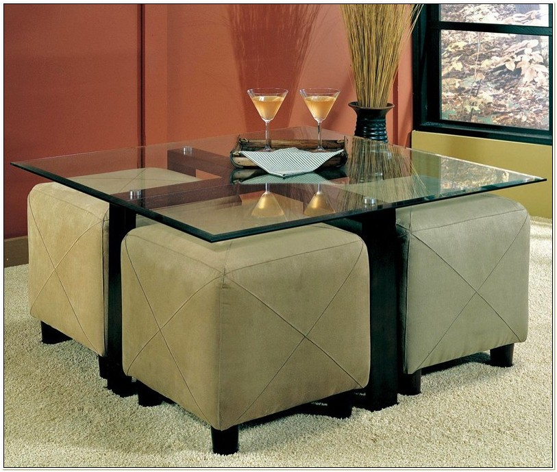 Glass Coffee Table With Chairs Underneath