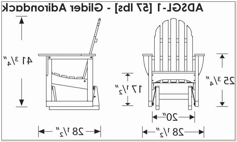 Glider Adirondack Chair Plans