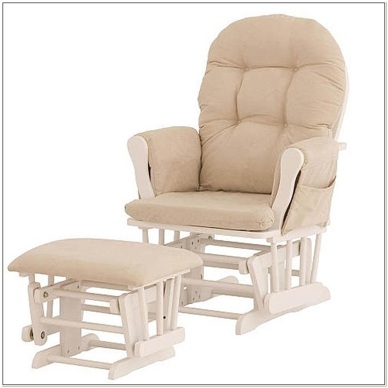 Glider Breastfeeding Rocking Chair W Ottoman