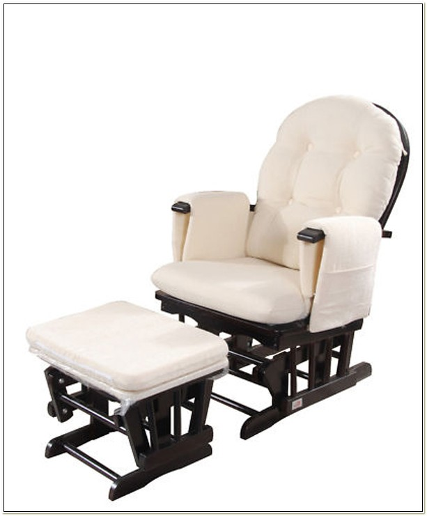 Glider Breastfeeding Rocking Chair With Ottoman