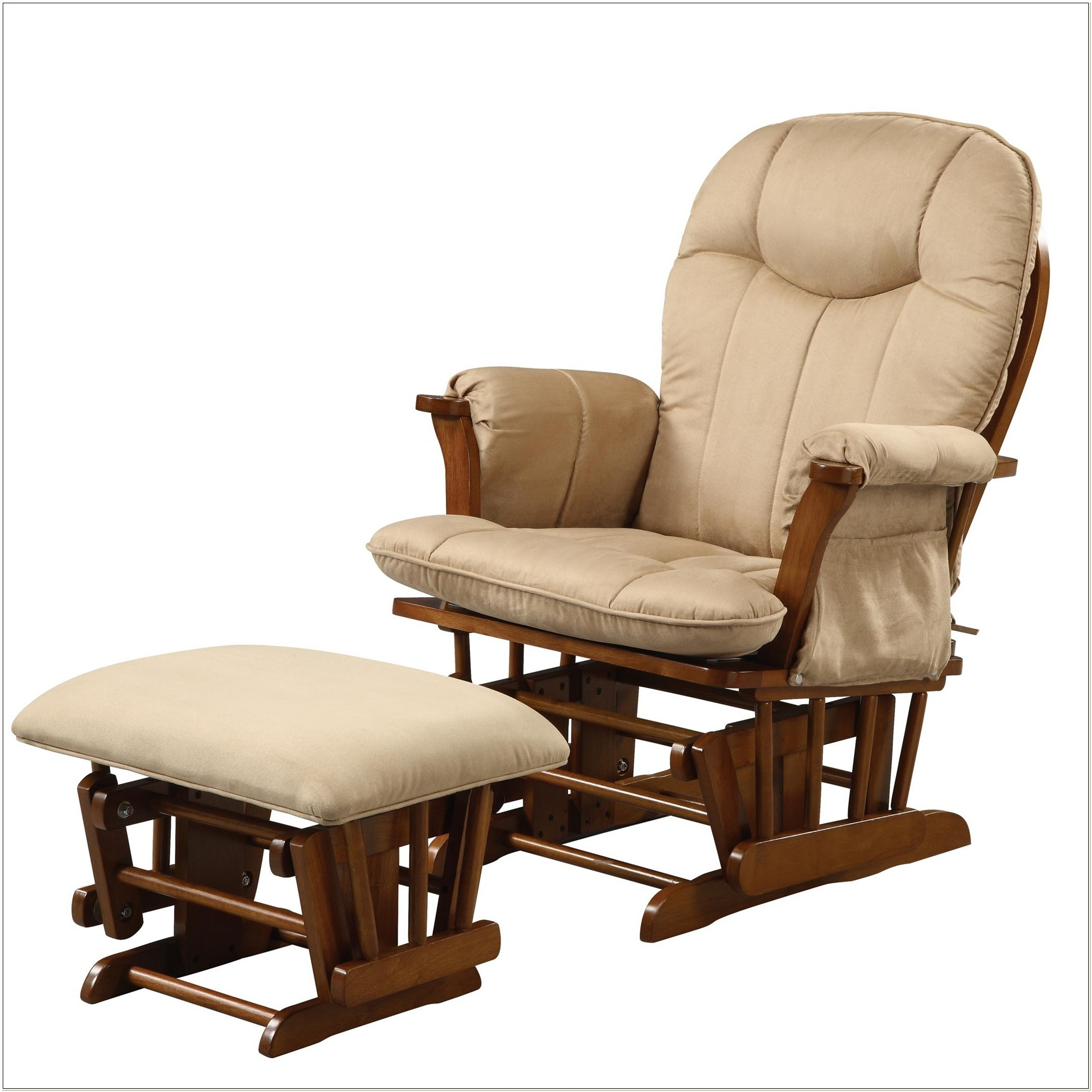 Glider Rocker Chair With Ottoman