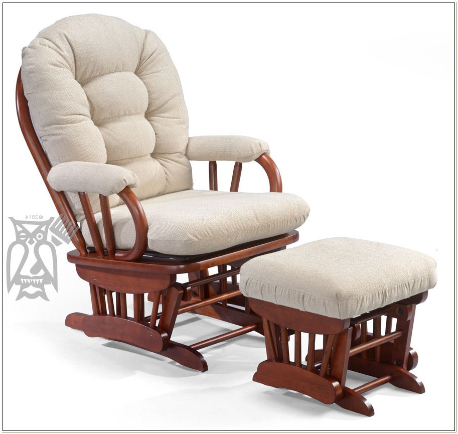 Gliding Rocking Chair With Ottoman