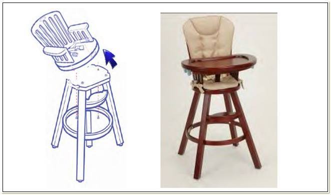 Graco Wood High Chair Tray