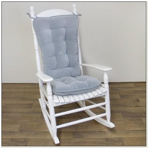 Gray Rocking Chair Cushion Set