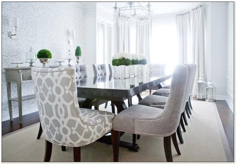 Gray Velvet Dining Chairs