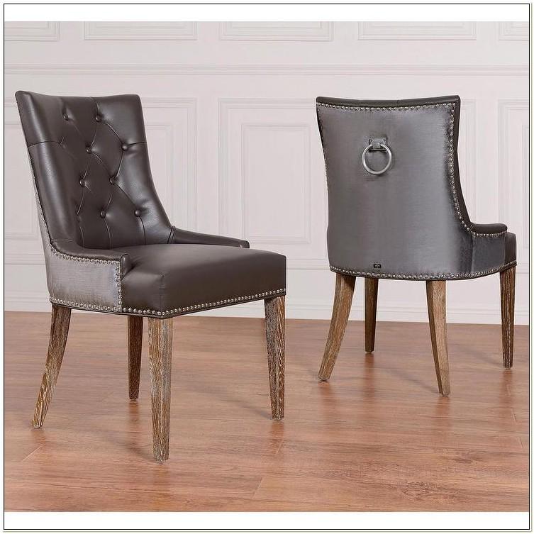 Gray Velvet Tufted Dining Chairs