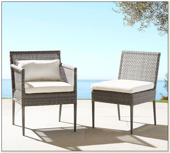 Gray Wicker Outdoor Dining Chairs