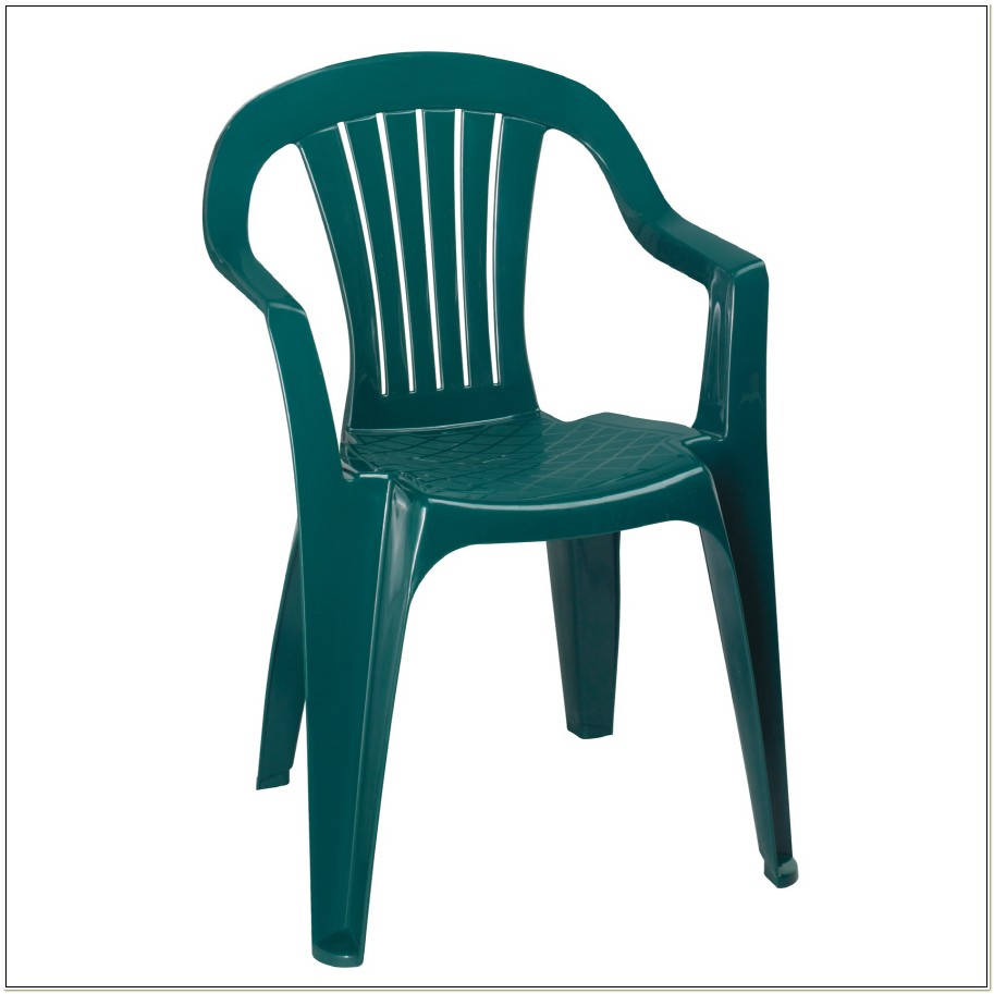 Green Plastic Stackable Patio Chairs