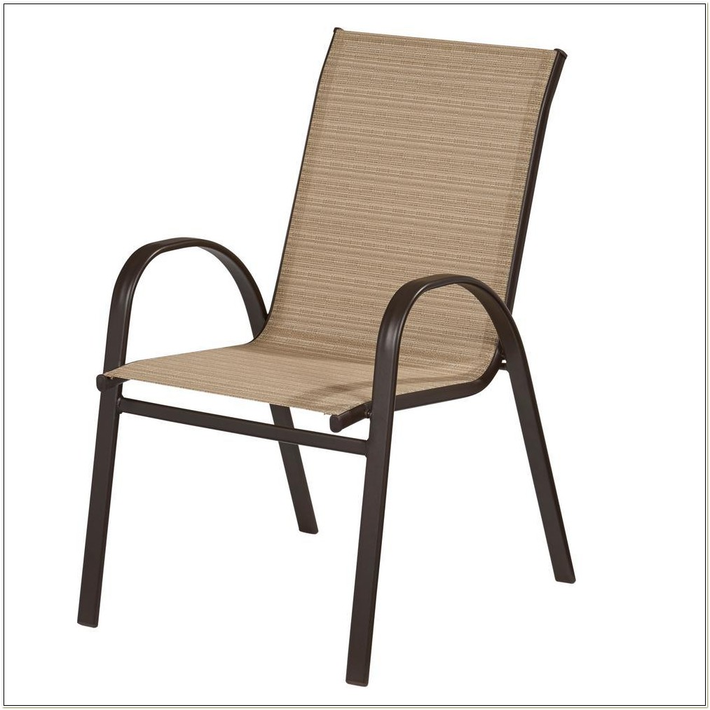 Green Sling Stackable Patio Chair