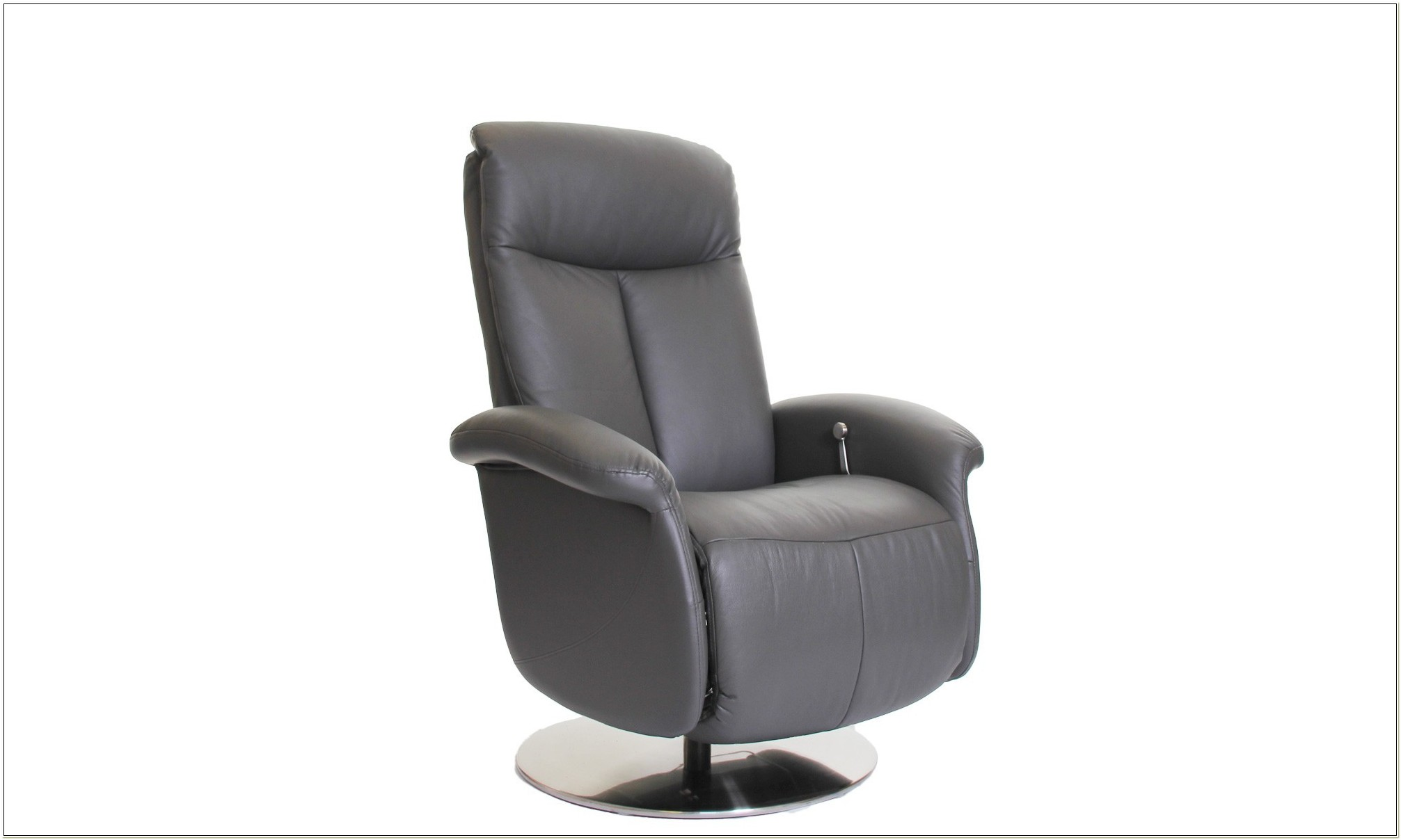 Grey Leather Swivel Recliner Chair