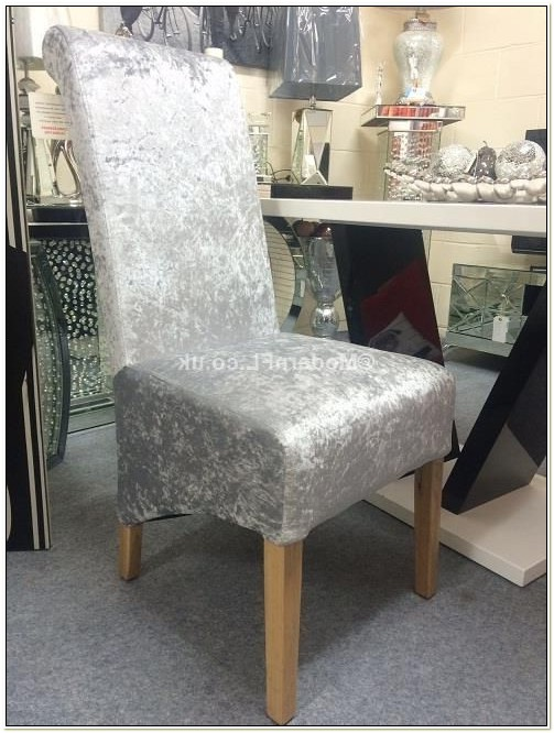 Grey Velvet Dining Chair Covers