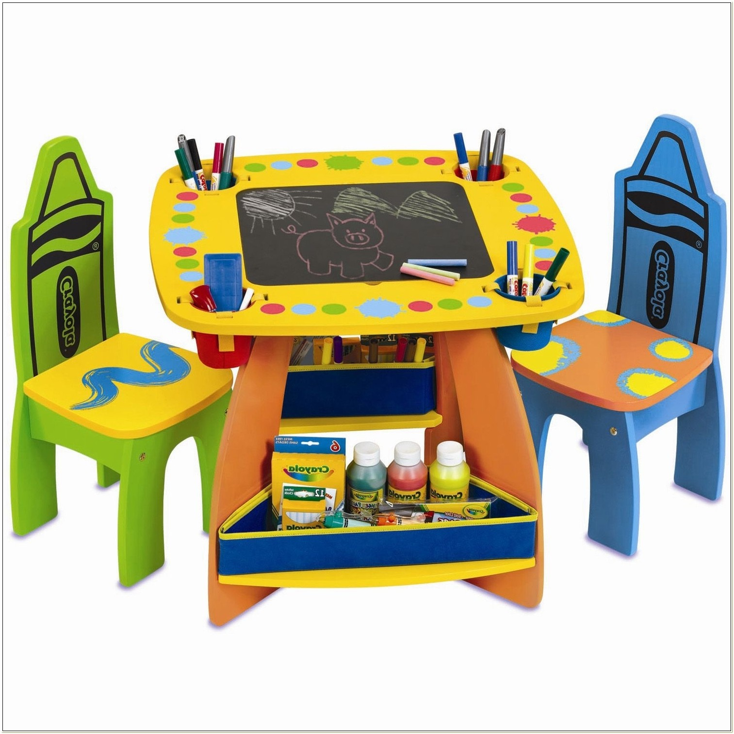 Grown Up Crayola Wooden Table Chair Set
