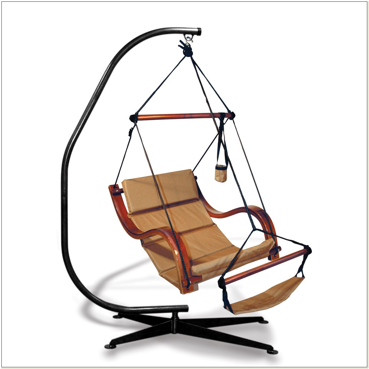 Hammock Chair With Stand And Footrest
