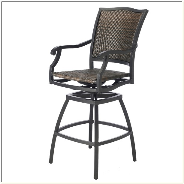 Hampton Bay Swivel Patio Bar Chairs