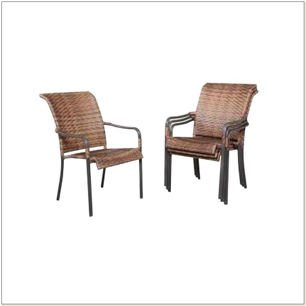 Hampton Bay Wicker Stack Chairs