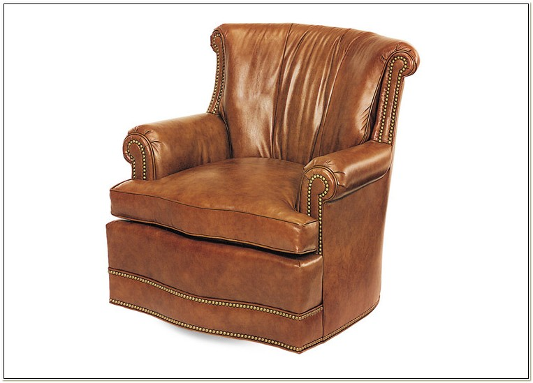 Hancock And Moore Leather Swivel Chairs