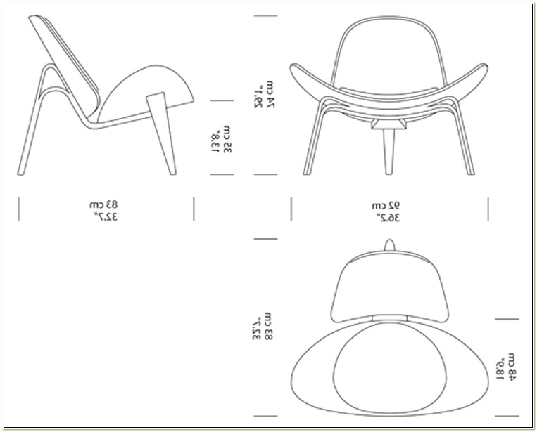 Hans Wegner Shell Chair Dimensions