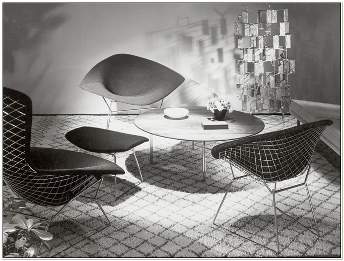 Harry Bertoia Diamond Chair History