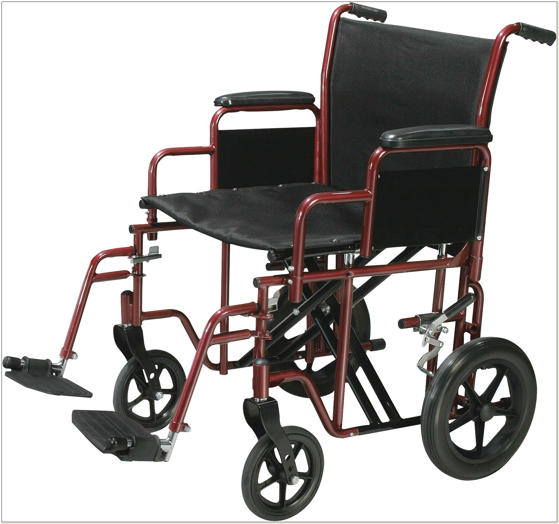 Heavy Duty 22 Transport Wheelchair
