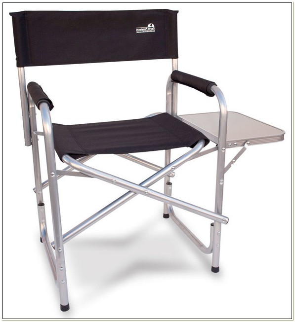 Heavy Duty Directors Chair With Side Table