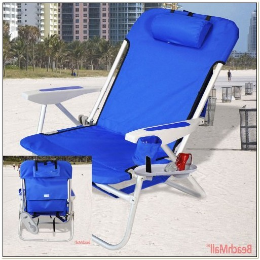 Heavy Duty Reclining Beach Chair