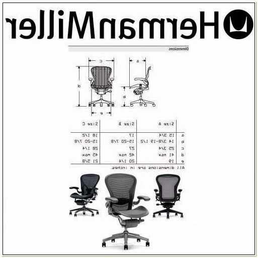 Herman Miller Aeron Chair Dimensions