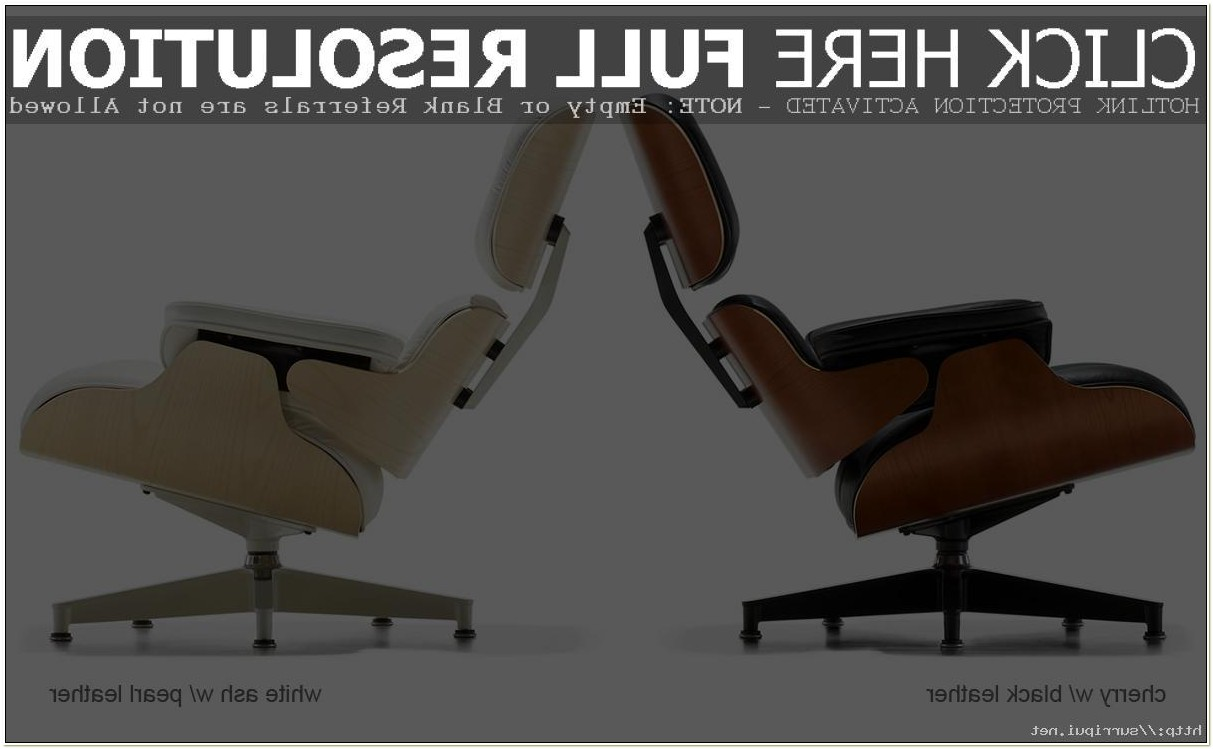 Herman Miller Eames Lounge Chair Dimensions