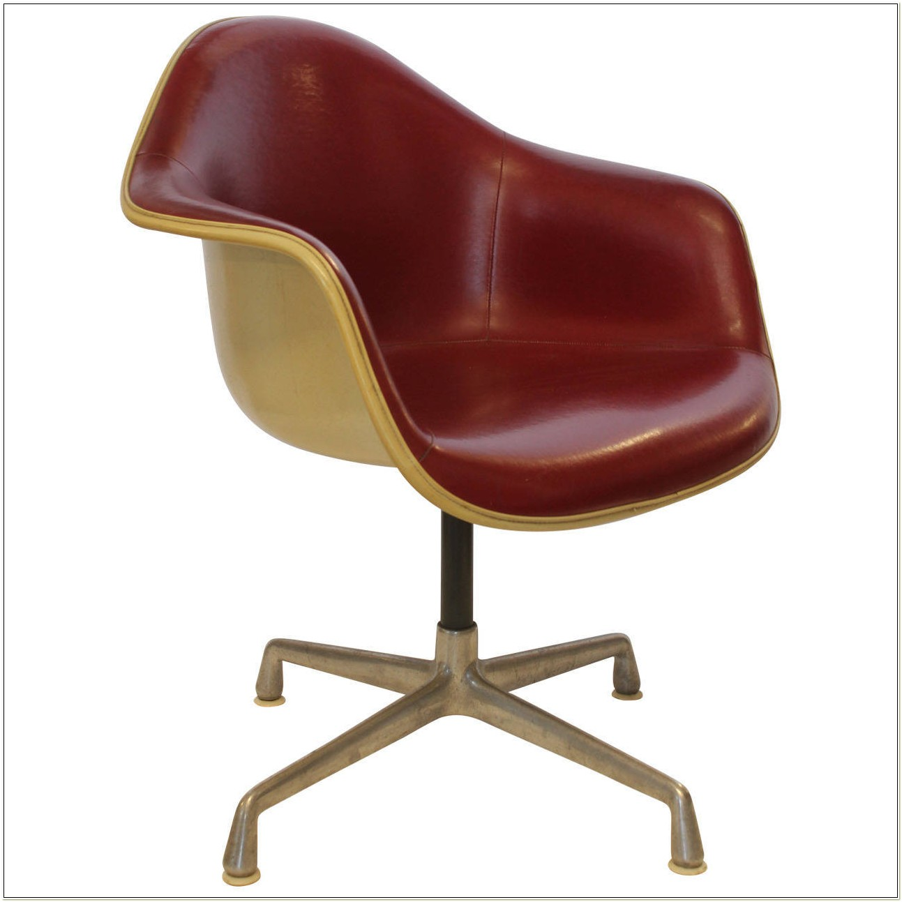 Herman Miller Red Leather Chair