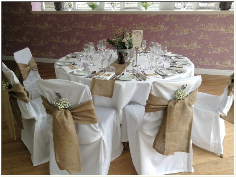 Hessian Sashes For Wedding Chairs