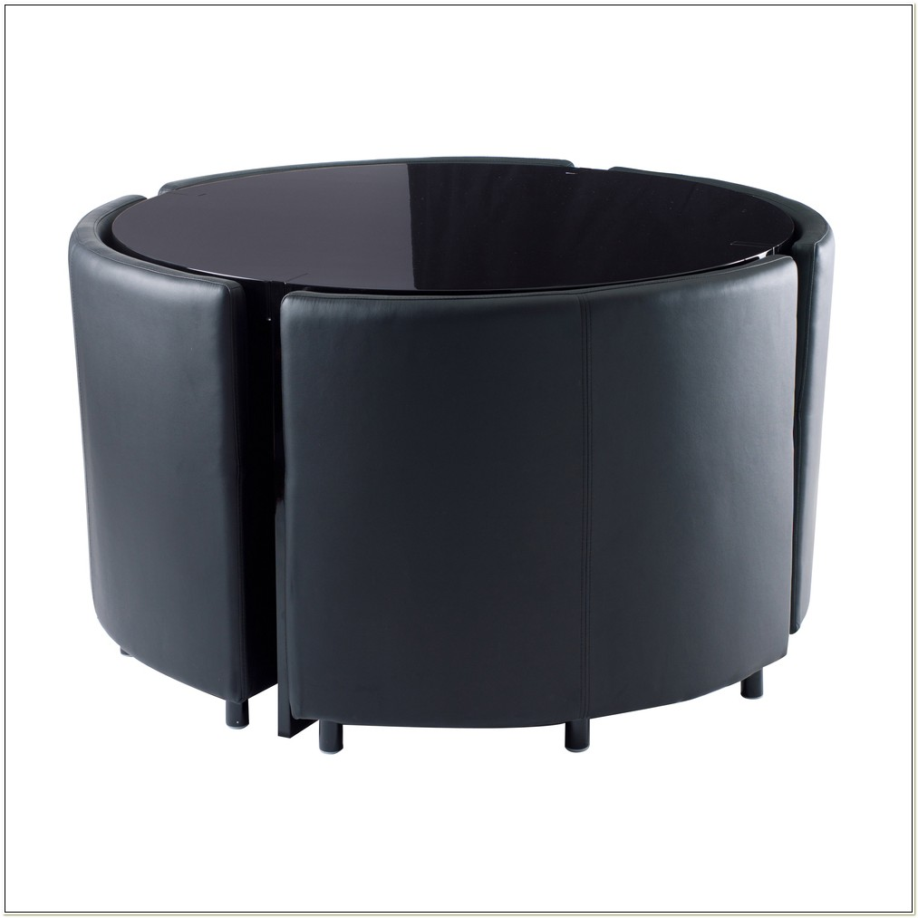 Hideaway Table And Chairs Black