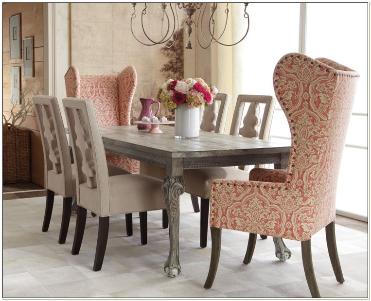 High Wing Back Dining Room Chairs