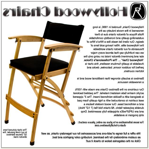 Hollywood Directors Chair Bamboo