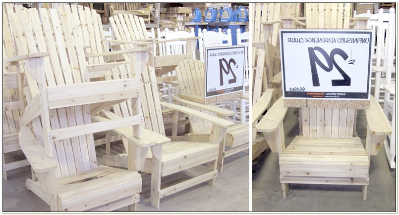Home Depot Adirondack Chairs Unfinished
