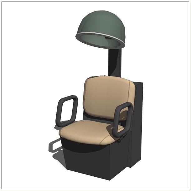 Hooded Hair Dryer With Chair