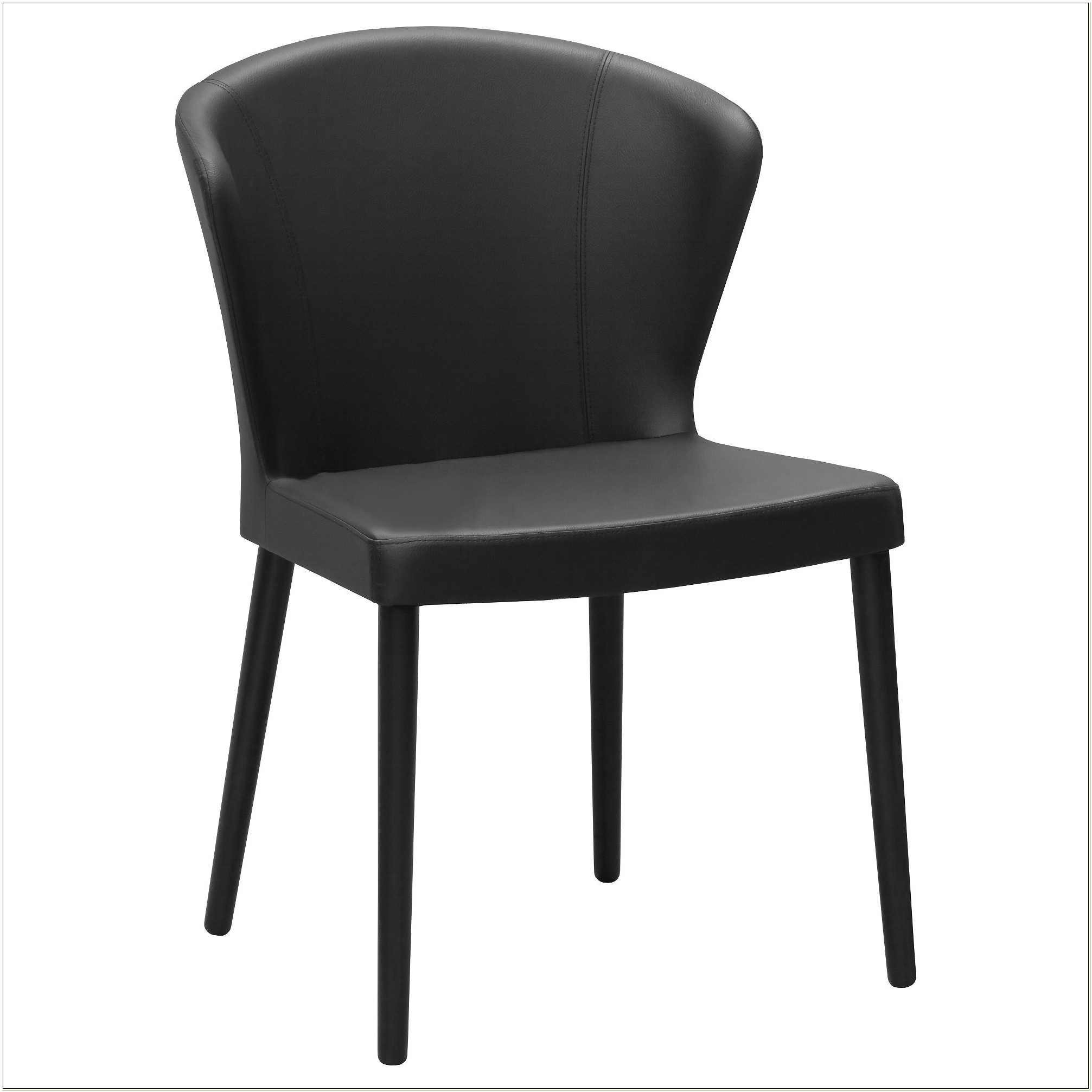 Ikea Black Leather Dining Chair