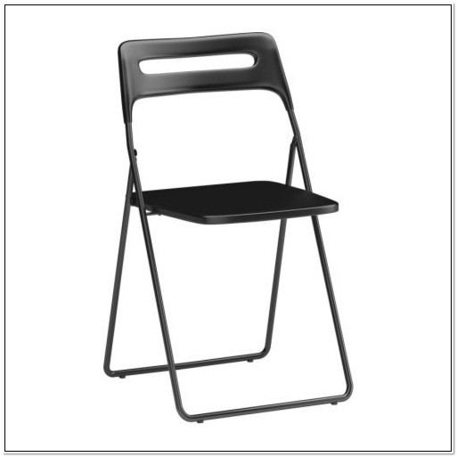 Ikea Black Nisse Folding Chairs