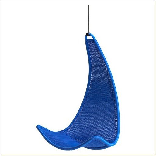 Ikea Blue Wicker Hanging Chair