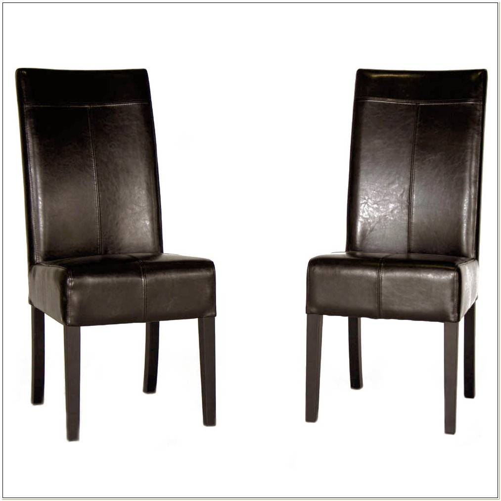 Ikea Brown Leather Dining Chairs
