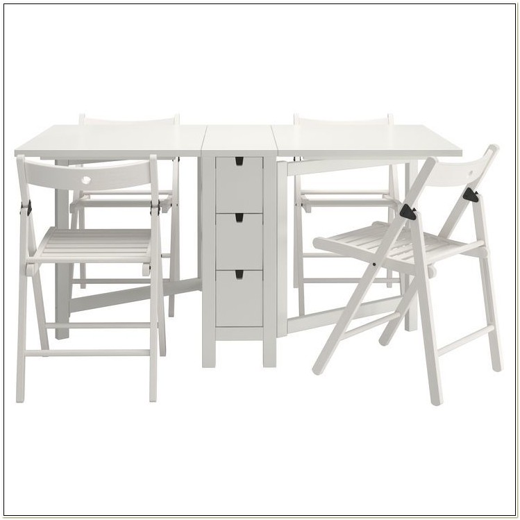 Ikea Folding Table And 4 Chairs