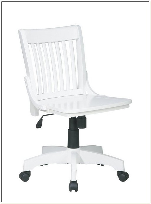 Ikea White Wooden Desk Chair