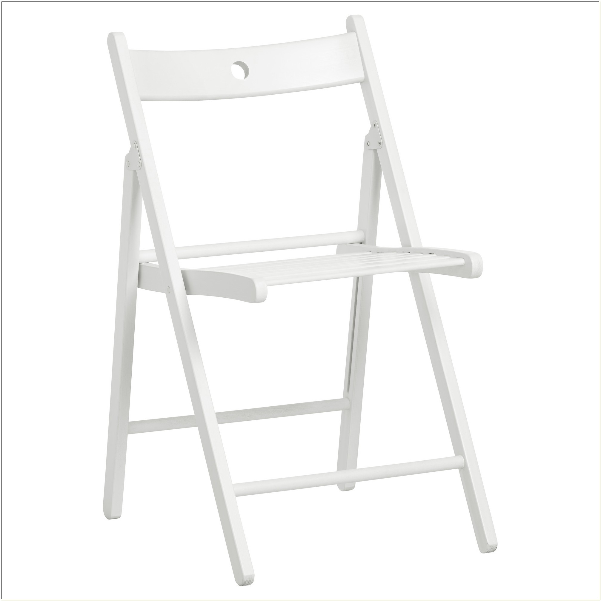 Ikea White Wooden Folding Chairs
