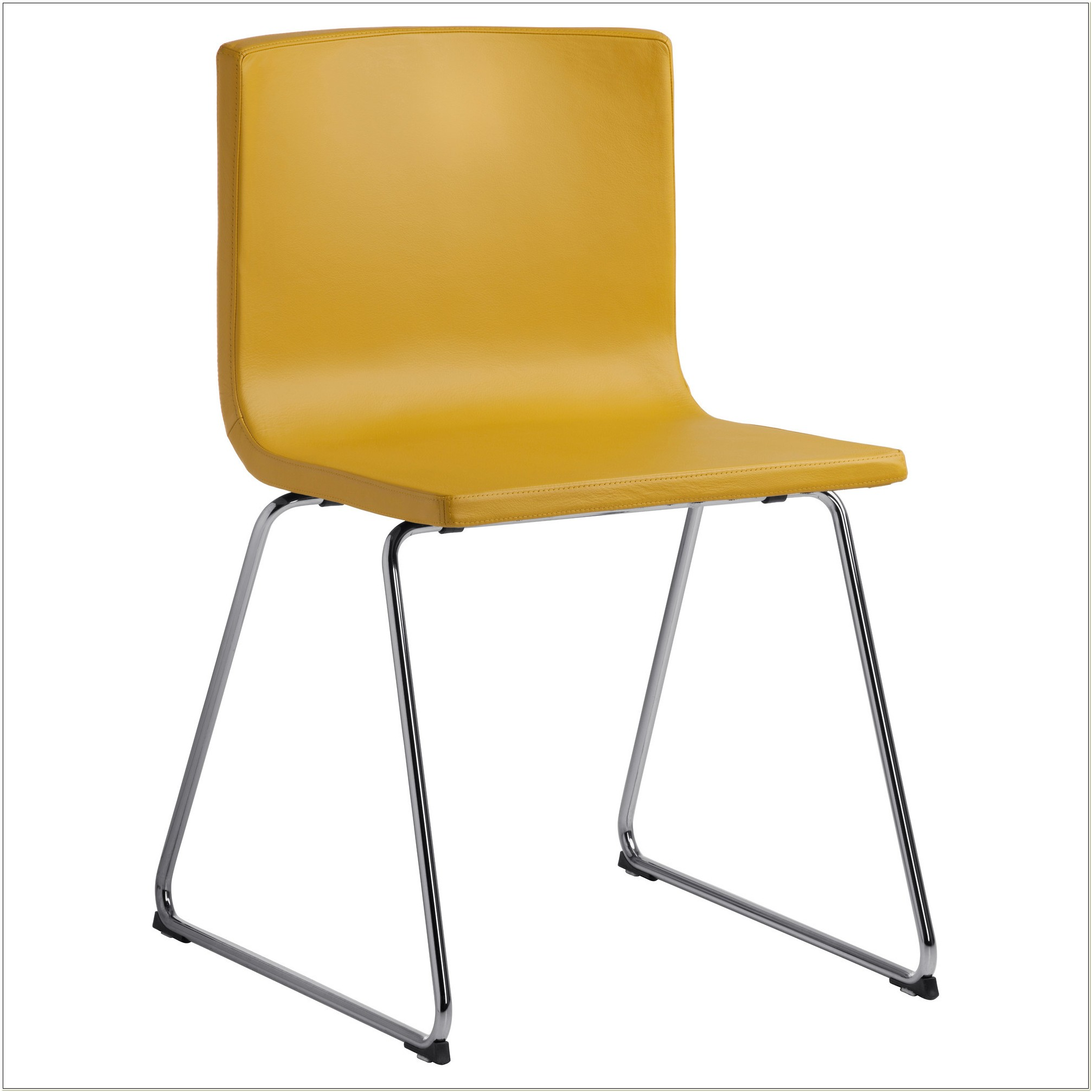 Ikea Yellow Leather Dining Chair