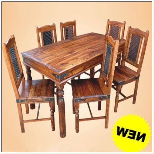 Indian Sheesham Dining Table And Chairs