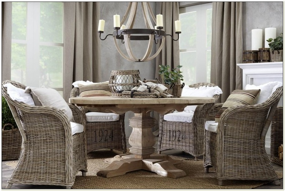 Indoor Wicker Dining Room Set